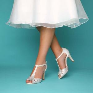 Chaussures perlées ivoire